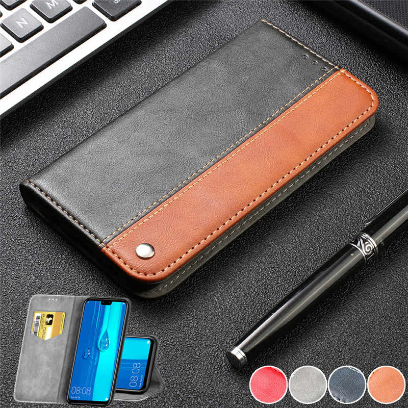 Luxury Leather Wallet Case for Huawei Y9 Y6 2019 Y6 Y5 2018 Card Stand Flip Cases Phone Cover for Huawei P30 Lite P30 Pro Coque