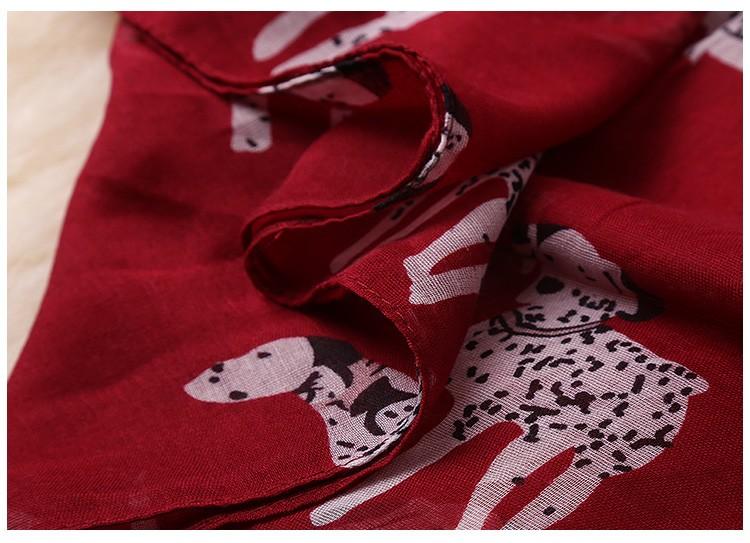 Dalmatians Lady Scarves | Lightweight Scarves