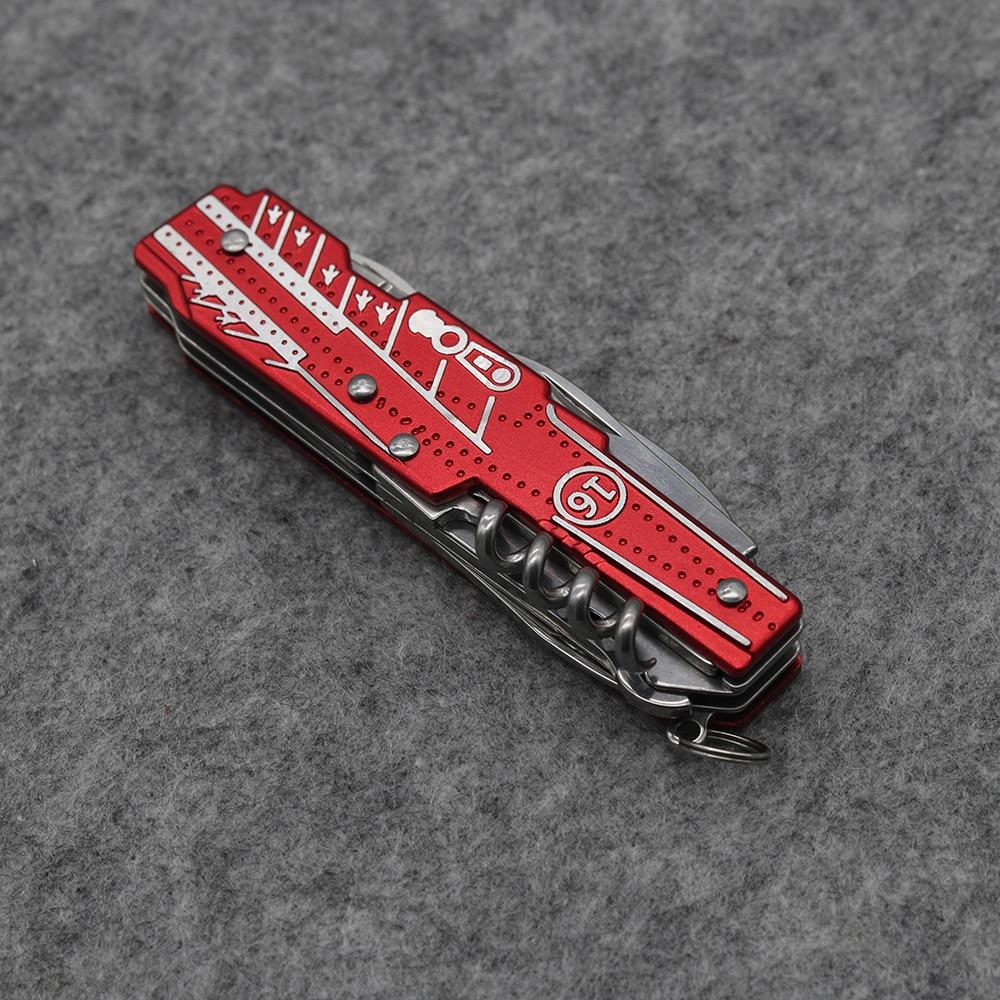 Nový! Červený multifunkční skládací nůž z nerezové oceli 9 - Ruční nářadí - Fotografie 6