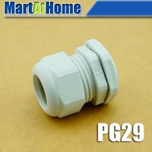 100PCS/lot NEW Weather Proof Nylon Connectors PG Cable Gland PG29 Dia. 18~25mm White #BV124 @SD