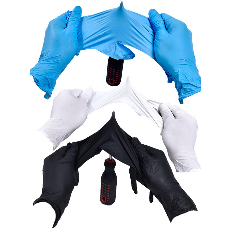 Image 2 - Disposable Black Gloves 20pcs Household Cleaning Washing Gloves Nitrile Laboratory Nail Art Medical Tattoo Anti Static Gloves-in Safety Gloves from Security & Protection
