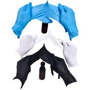 Image 2 - Wegwerp Zwarte Handschoenen 20Pcs Huishoudelijke Schoonmaakmiddelen Wassen Handschoenen Nitril Laboratorium Nail Art Tattoo Anti Statische Handschoenen