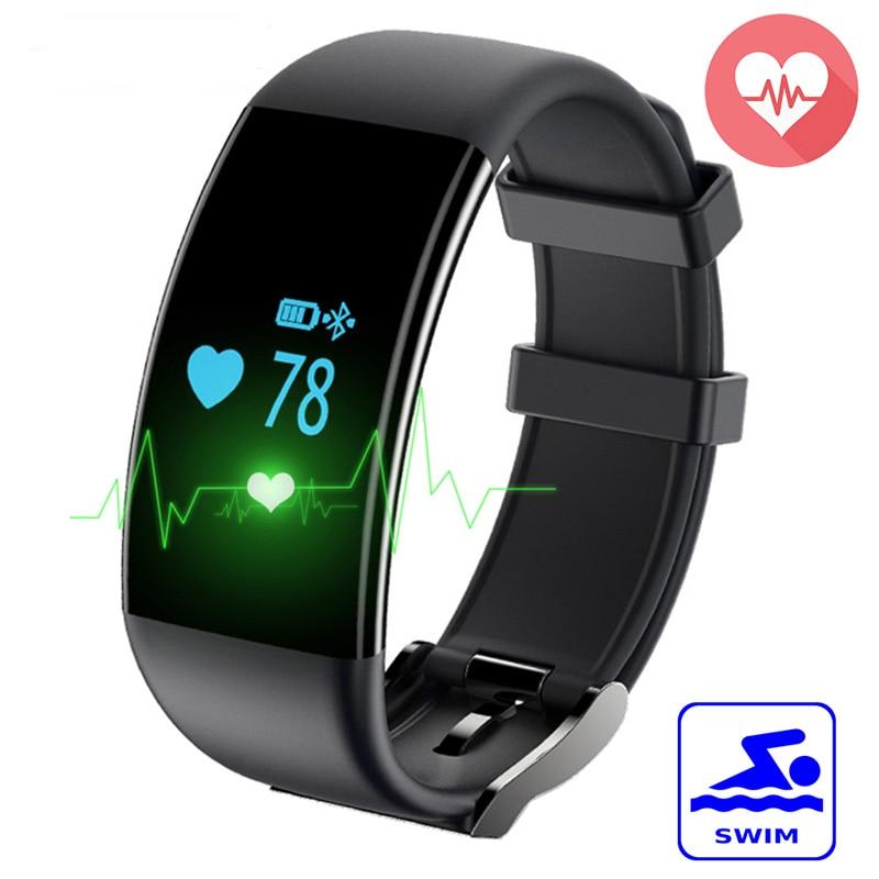 imágenes para Nueva DF30 Pulsera Inteligente Bluetooth 4.0 Monitor Del Ritmo Cardíaco de La Presión Arterial/Monitor de Oxígeno IP68 A Prueba de agua Reloj de Pulsera