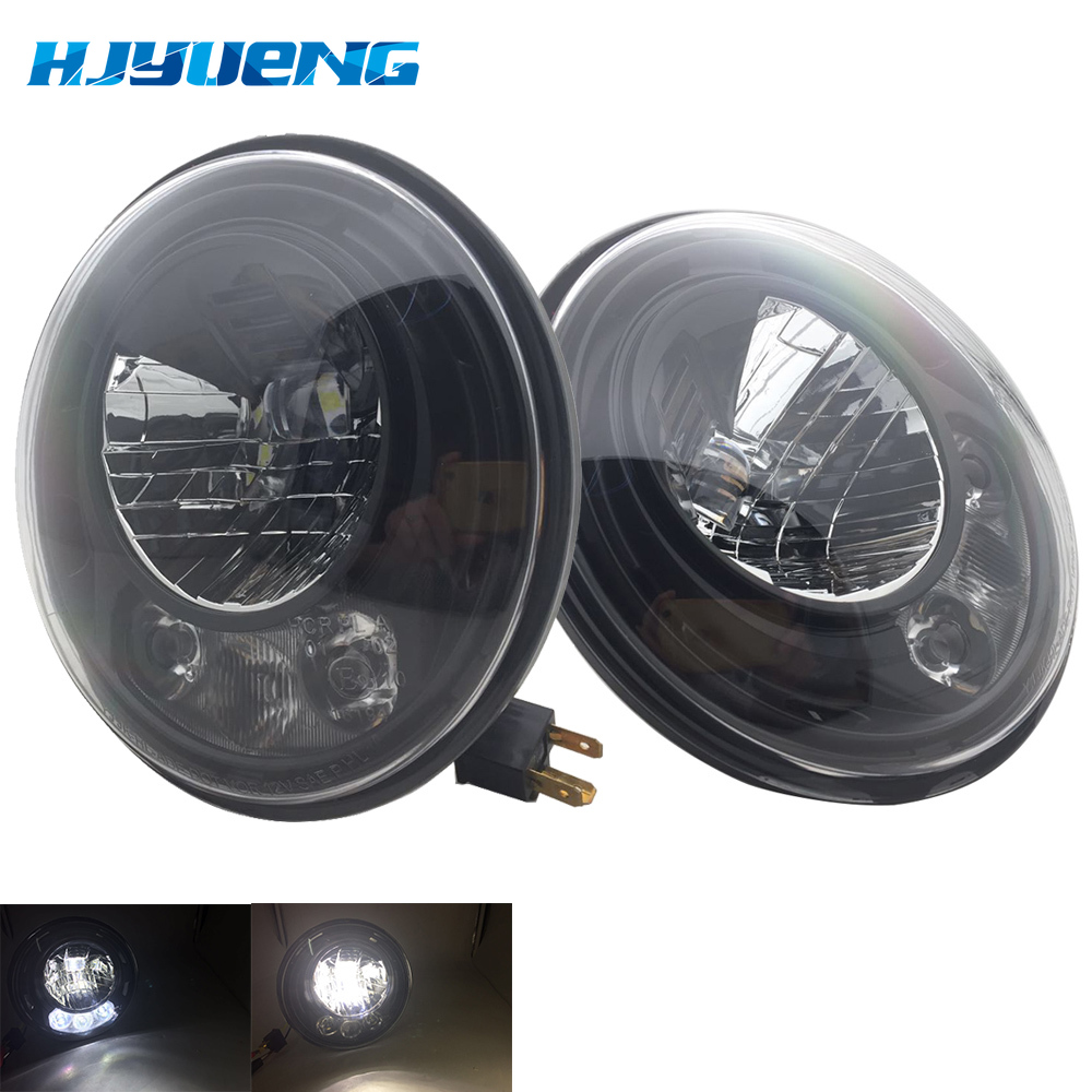 2pcs For Wrangler JK 2 Door 2 Hummer H1 H2 7inch LED Headlights For Lada 4x4 urban Niva 2007~2016 For Suzuki Samurai-in Car Light Assembly from Automobiles & Motorcycles
