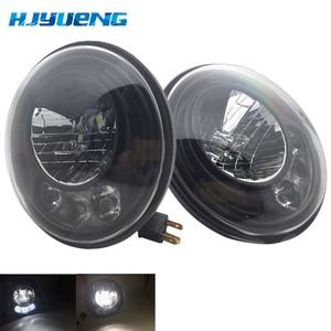 Image 1 - 2pcs For Wrangler JK 2 Door 2 Hummer H1 H2 7inch LED Headlights For Lada 4x4 urban Niva 2007~2016 For Suzuki Samurai
