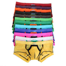 12Pcs/Pack Mens Breathable Sheer Mesh Underwear Boxers Lingerie Sexy Patchwork Bulge Pouch Boxer Shorts Trunks Wholesale