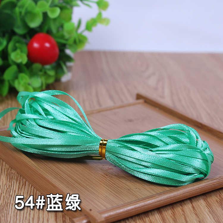 3 Mm Multi Warna Satin Ribbon Pita Kemasan Hadiah Natal Pita Dekorasi Pesta Pernikahan Kerajinan DIY Buatan Tangan (10 Meters/lot)