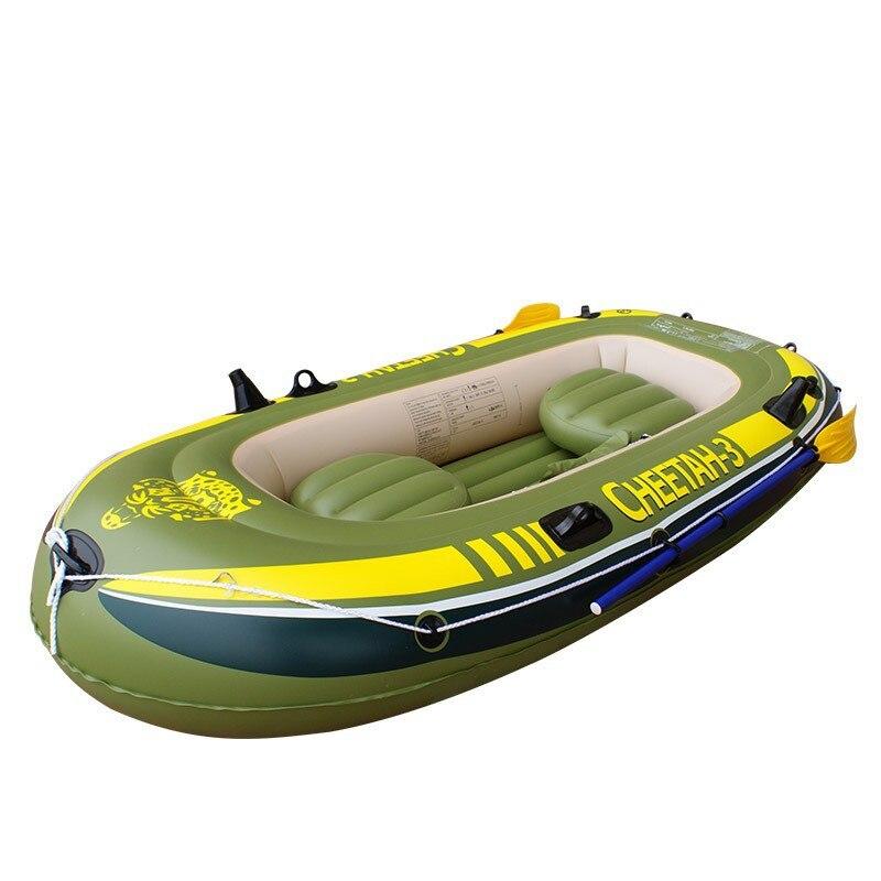 3-personnes bateau de pêche gonflable épaissir 0.6mm PVC bateau gonflable en caoutchouc bateau à la dérive canoë kayak étang ski nautique flotteur