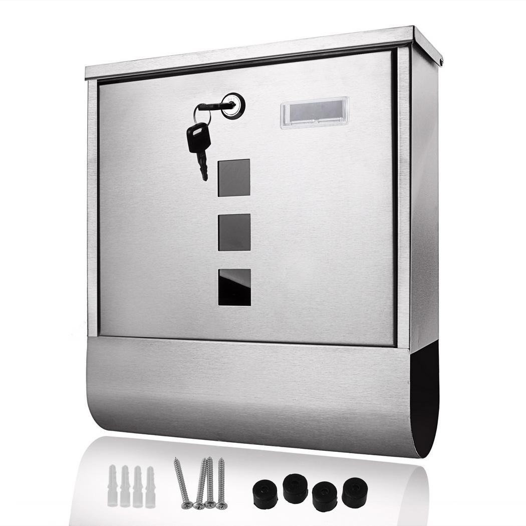 Fashion Wall Mounted Mailbox Stainless Steel Letterbox Mailbox Mail Post Box Home DecorationFashion Wall Mounted Mailbox Stainless Steel Letterbox Mailbox Mail Post Box Home Decoration
