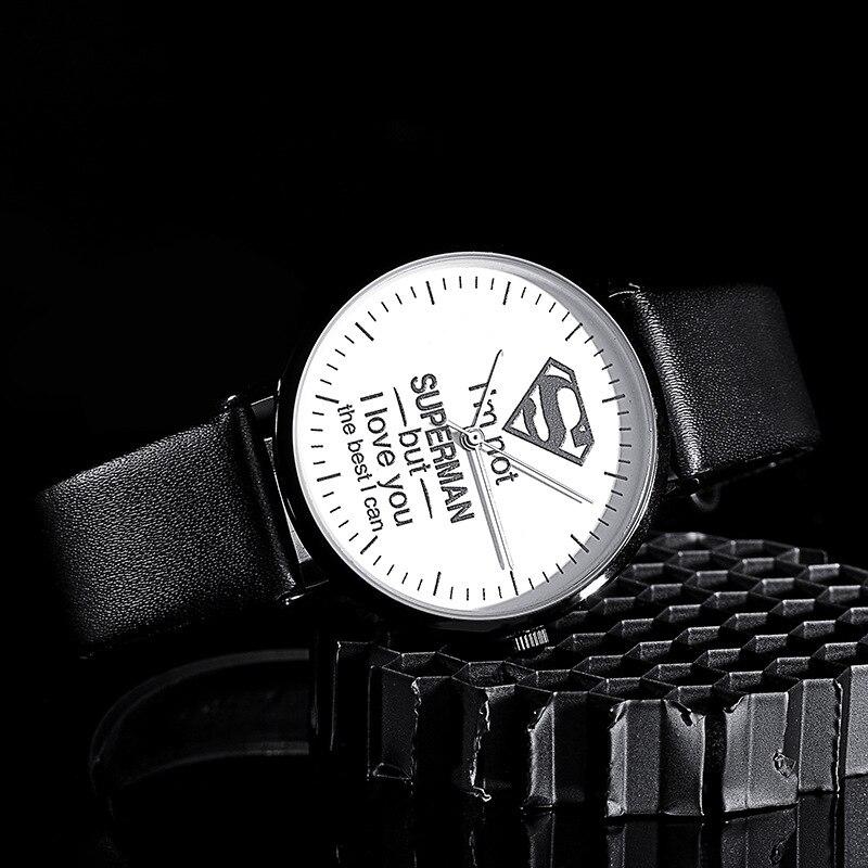 Часы унисекс белые супермен