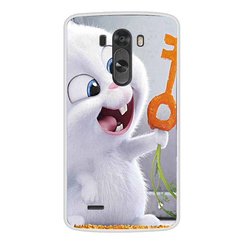 Image 2 - 電話ケース Lg G3 ソフトシリコーン TPU かわいい猫花塗装裏表紙 Lg G3 D850 D851 D855 ケース -    グループ上の 携帯電話 & 電気通信 からの フィットケース の中