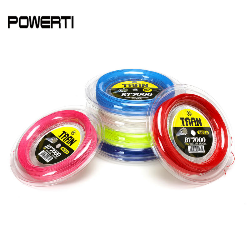 Free Shipping 0 68MM TAAN Brand New Badminton String BT7000 Big Reel 200 Meters Professional for