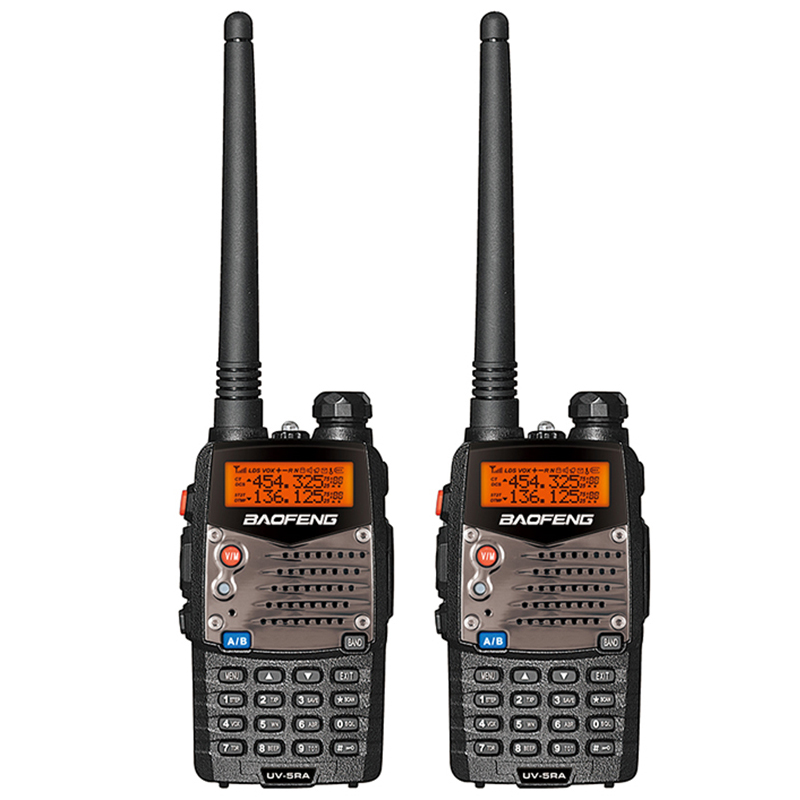 2PCS Baofeng UV-5RA Walkie Talkie Dual Brand UV 5RA CB Radio 5W 128CH VOX Flashlight Portable Professional FM Transceiver