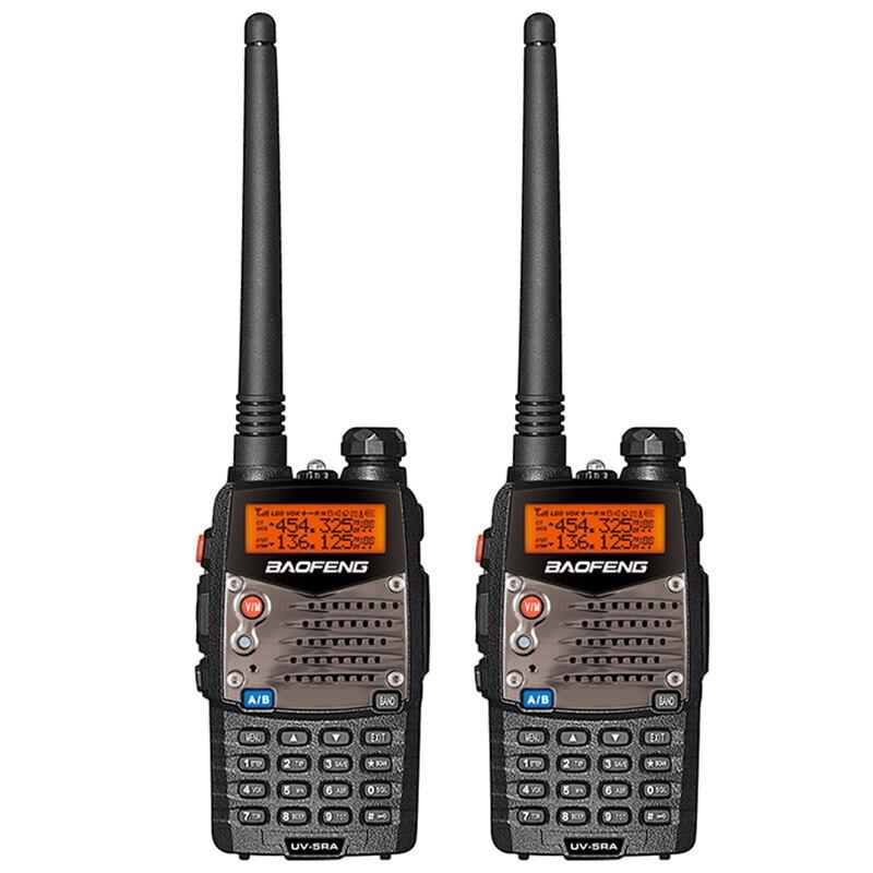 2PCS Baofeng UV-5RA Walkie Talkie Dual Brand UV 5RA CB Radio 5W 128CH VOX Flashlight Portable Professional FM Transceiver