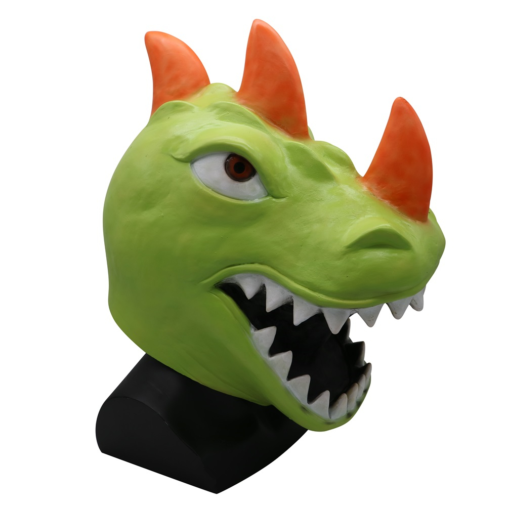Hot Game Battle Royale Dinosaur Latex Mask Adult Cosplay Costumes Halloween Party Masks Props