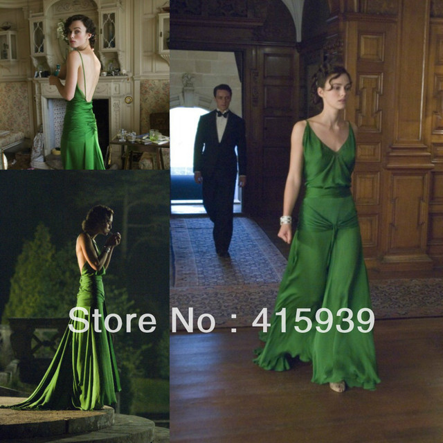 Keira Knightley from the movie atonement long green