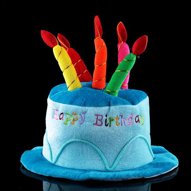 Awesome New Birthday Cake Hat Kids Adults Party Cake Candle Cap Boys Girls Funny Birthday Cards Online Aboleapandamsfinfo