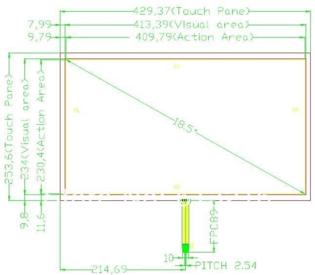 16:9   18.5 inch 4 wire resistive touch panel touch screen + USB controller card +CD Room   work with  M185XTN01.2 хай хэт и контроллер для электронной ударной установки roland fd 9 hi hat controller pedal