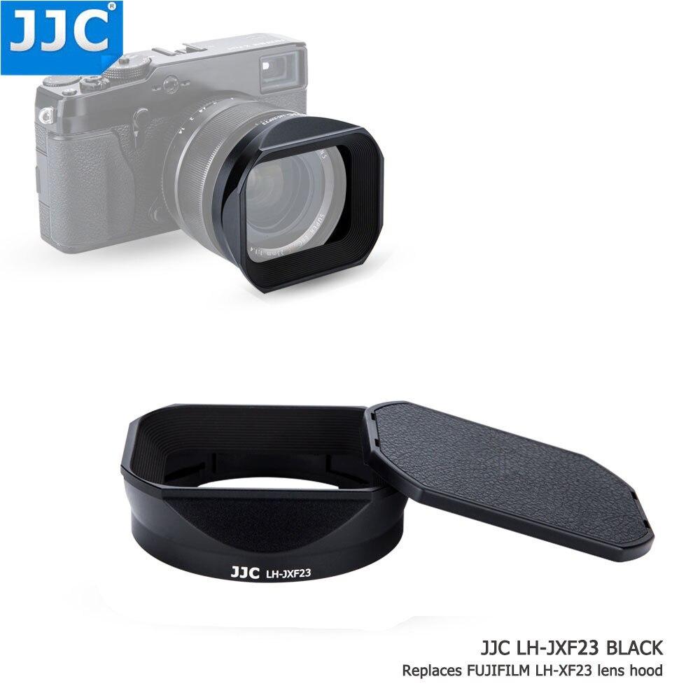 JJC 62mm gwint czarny kamera kwadratowa osłona obiektywu do obiektyw FUJINON XF 23mm F1.4 R/XF 56mm F1.2 R/XF 56mm F1.2 R APD zastępuje LH XF23 w Osłona obiektywu do aparatu od Elektronika użytkowa na  Grupa 1