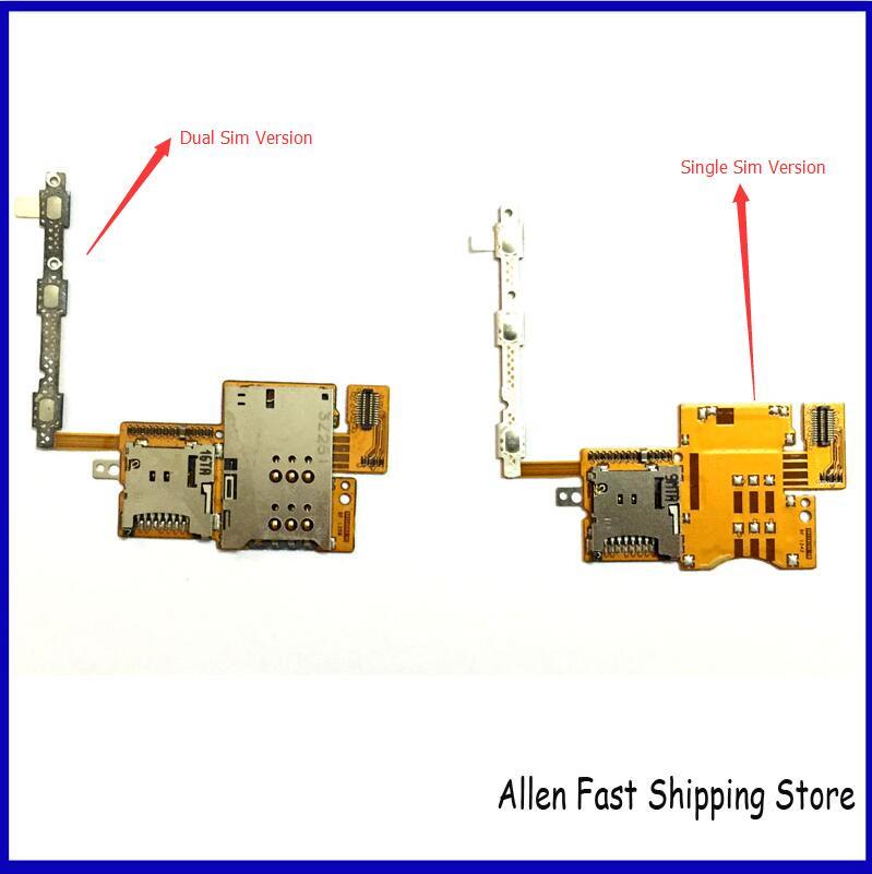 Original New single/dual card Sim Flex For Huawei Mediapad 10 FHD S10-101 Sim Memory SD Card Holder Slot Flex Cable High Quality