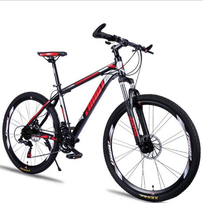 MTB Handsome Mountain Bike 26 Inch Damping Disc Brake Speed Change Mountain Bike New Double Brake Steel Frame Bicycle