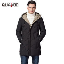 Brand Top Quality Mens Down Jackets 2019 New Winter Fashion Youth Casual Warm 90% White Duck Coats Long Hooded Jacket 4XL