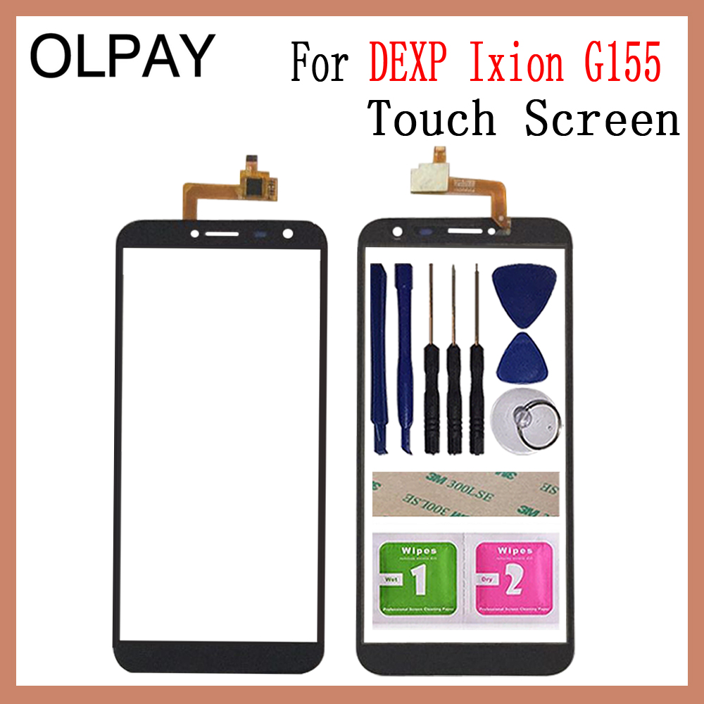OLPAY 5.5'' Mobile Phone Touch Screen Digitizer For Dexp Ixion G155 Touch Glass Sensor Tools Free Adhesive And Wipes