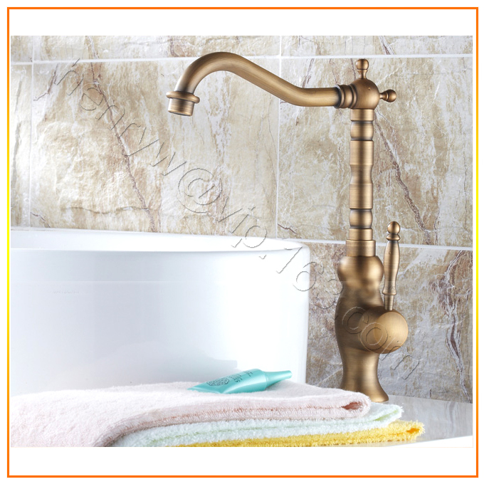 L16111 - Luxury Deck Mounted Bronze Color Brass Single Lever Basin FaucetL16111 - Luxury Deck Mounted Bronze Color Brass Single Lever Basin Faucet