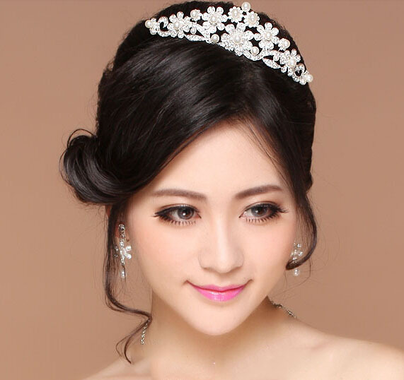 Handmade Pearl Hair Accessory Wedding Dress Jewelry Elegant Beads The Bride Crown