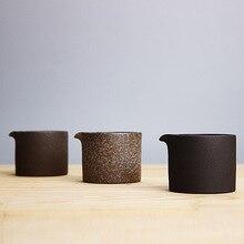 Coarse Pottery Ceramic Fair Cup Portable Japanese Retro Divided Tea Sea Kung Fu Tea Set Pitcher Pu'er Cup 100ml