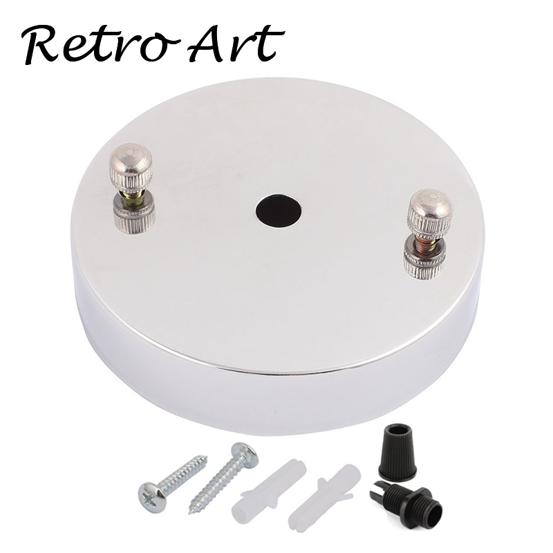 FREE shipping D100mm Ceiling Canopy Ceiling Rose Wall Lamp Base lighting accessories white cord grip-Silver