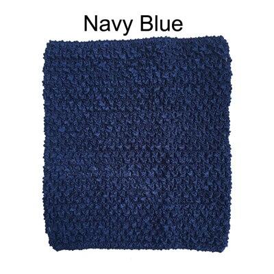 Вязанная крючком юбка-пачка для маленьких девочек, 9 дюймов, топы-трубы, обхват груди, широкая вязаная крючком, топы, юбка-пачка «сделай сам», платье, поставщик - Цвет: Navy Tutu Top