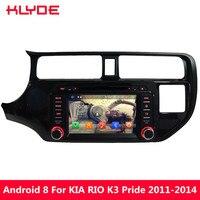 KLYDE Android 8 4 ГБ Оперативная память 32 ГБ Встроенная память Octa Core 4 г WI FI RDS DAB DVD мультимедиа плеер стерео радио для KIA K3 RIO Pride 2011 2014