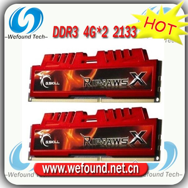 Hot sell! Brand new for G.SKILL DDR3 2133 4G*2 ram for desktop computer overclocking F3-17000CL11D-8GBXL