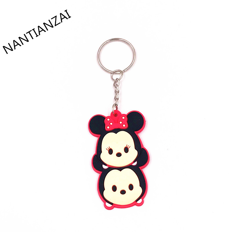 1PCS-Cute-Cartoon-TSUM-TSUM-Mickey-Minnie-Donald-Cartoon-Doll-Keychain-Kids-Gift-Key-ring-Backpack (2)