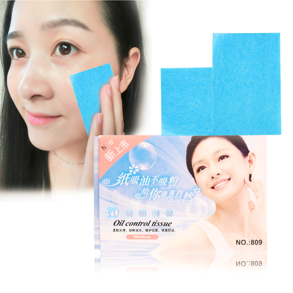1 pack  (50 Pcs) oil control Paper Pulp Random Facial Oil Control Absorption Makeup Blotting  oil absorbing sheet Hot Selling