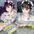 2Pcs Handmade Wedding Bridal Flower  U HairPins Clips Bridesmaid Hairwear Jewelry Hair Accessories Free shipping