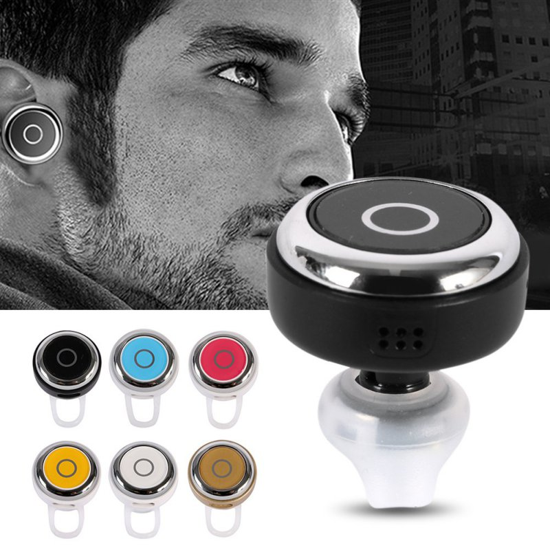 Mini Wireless Bluetooth Earphone Q3 In-Ear V4.0 Stereo Headsets Voice Control Headset with Mic for All Phone Talk and Music