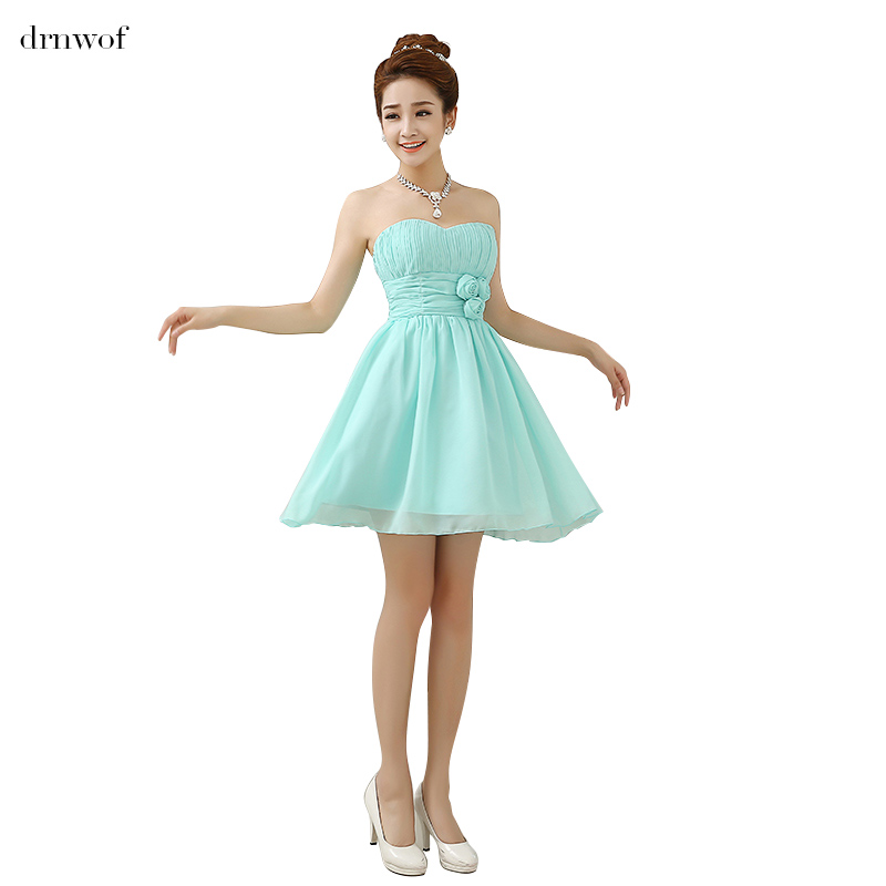 Buy short 2017 cheap chiffon bridesmaid for Wedding party dresses 2017