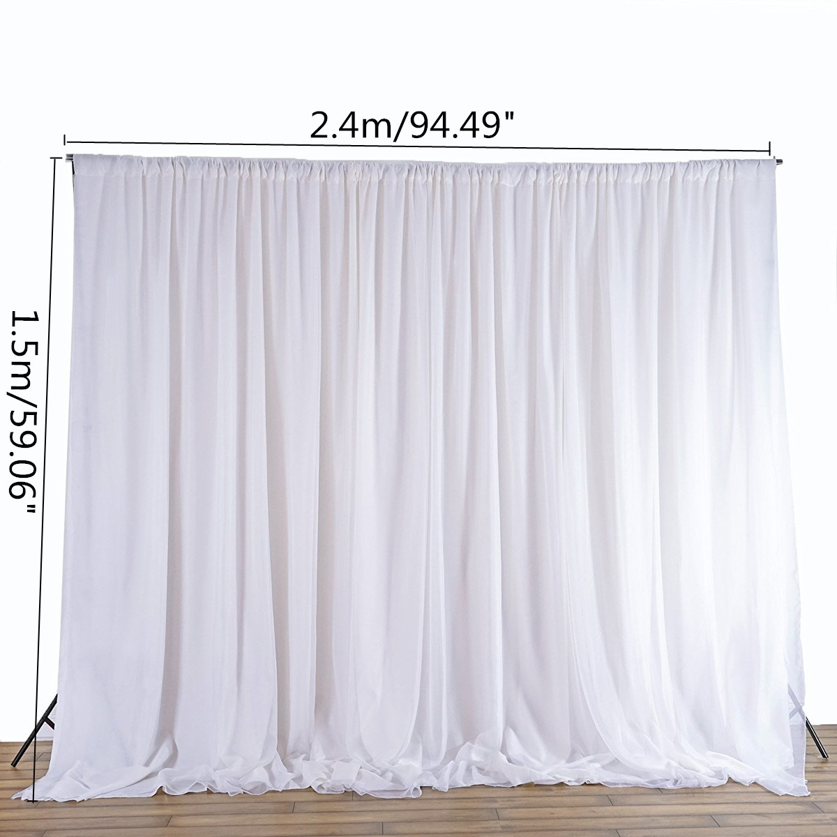 Diy Drapes For Wedding: White Sheer Silk Cloth Drapes Panels Hanging Curtains