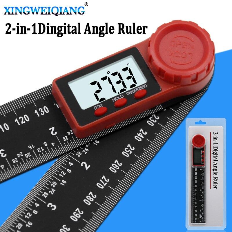 Detector eletrônico do ângulo do transferidor do goniômetro da escala digital do ângulo do inclinômetro do instrumento de 200mm