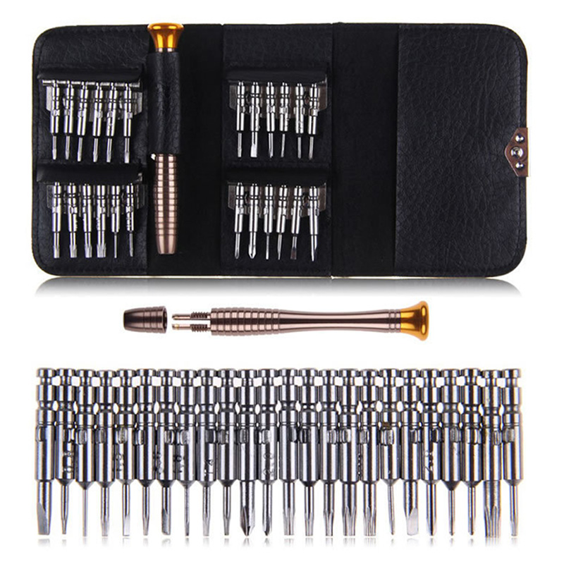 25 In 1 Mobile Phone Repair Tools Kit Spudger Pry Opening Tool Screwdriver Set For IPhone IPad Samsung Cell Phone Hand Tools Set