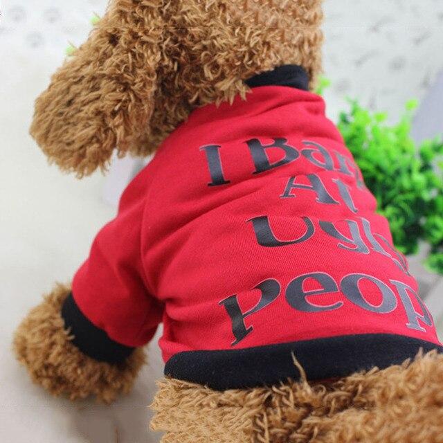 243e0edb1 I Bark At Ugly People Dog Cats Clothes Summer T Shirt Sweatshirt for Pets  Puppies