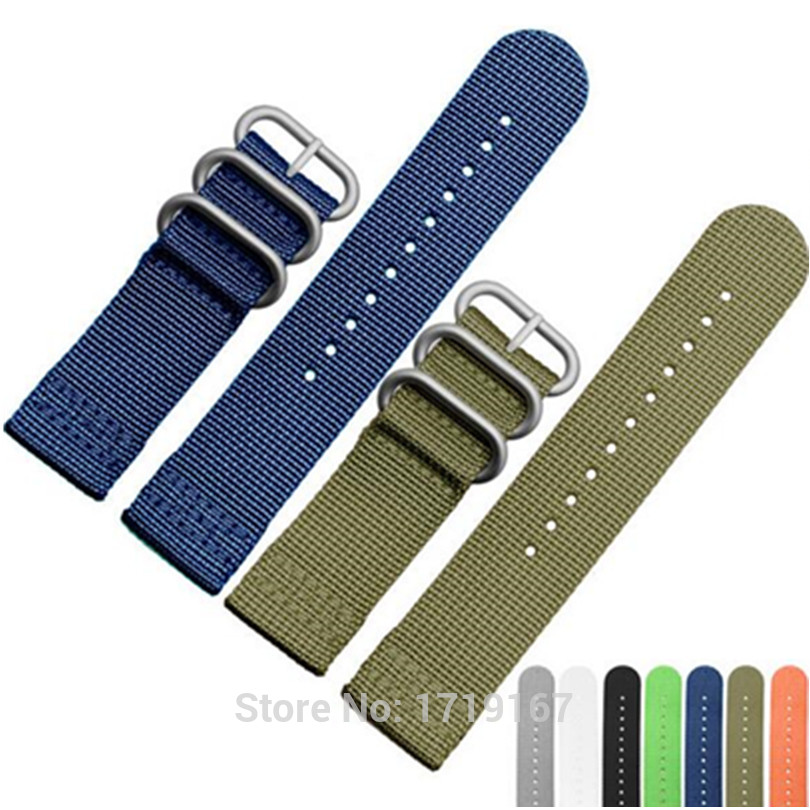20MM 22MM Trendy Army Military Nylon Fabric For Nato Strap Sports Canvas Wrist Watch Band
