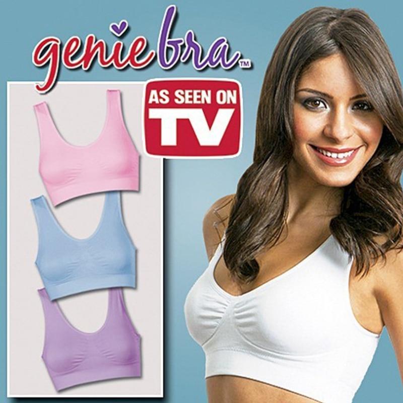 2eb9ca1c4d 3pcs set Genie Bra With Removable Pads Seamless Women s Two-double Vest  BODY SHAPER