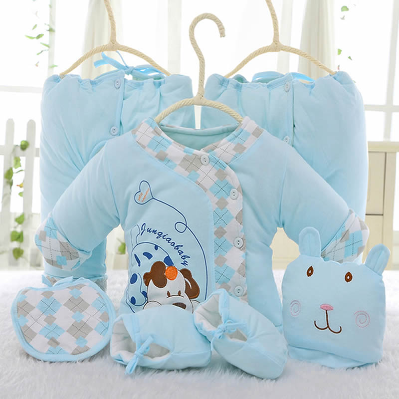 ФОТО 6pcs/set Newborn Baby Clothing Set for 0-6M Winter Autumn kids Clothes 100% Cotton long sleeve baby clothes baby