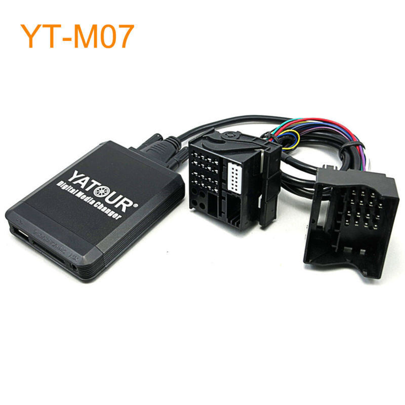 Yatour Car MP3 USB SD CD Changer for iPod AUX with Optional Bluetooth for BMW E39 X3 X5 Z4 Z8 for Range Rover for MINI R5x yatour car adapter aux mp3 sd usb music cd changer 8pin cdc connector for renault avantime clio kangoo master radios