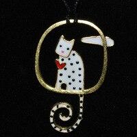 Projektant s925 sterling silver chmury w słońcu Kot naszyjnik wisiorek oświadczenie dla kobiet moda biżuteria hurtownie darmowa wysyłka