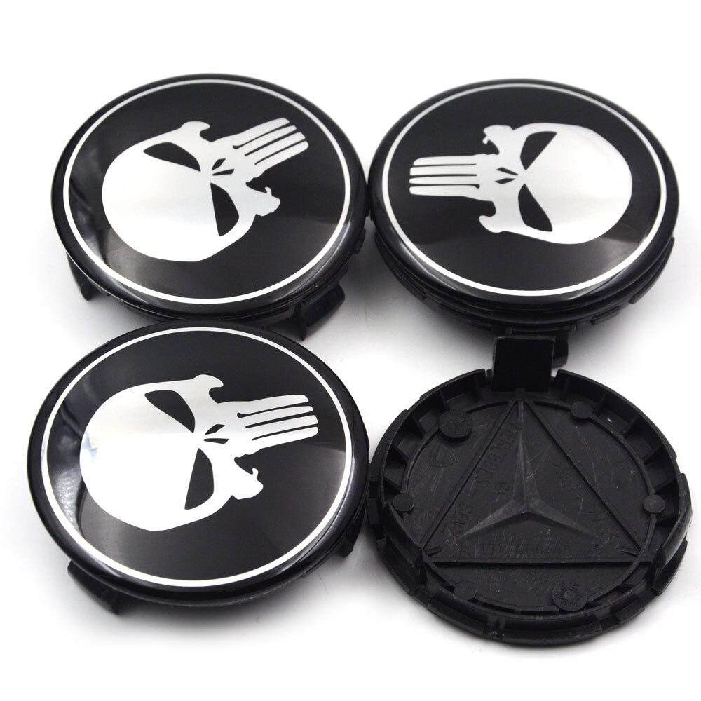 Gzhengtong 4 шт./лот 75 мм колеса центр Кепки Punisher Знак Эмблемы для mercedes для A B C cla CLS G M R A1714000025 стайлинга автомобилей ...