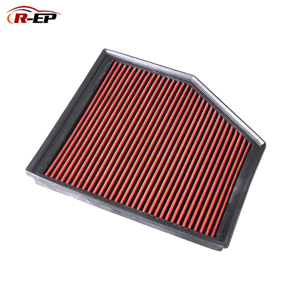 R EP Replacement Panel Air Filter Fits for BMW E60 E61 525 E63 630 E64 E85 E86 Z4 High Flow Washable Reusable OEM 13717521033
